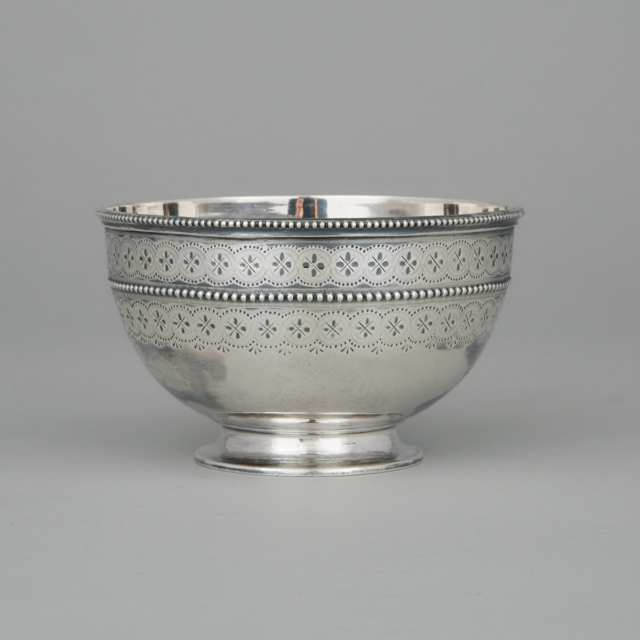 Victorian Silver Sugar Bowl, Thomas Bradbury & Sons, London, 1877
