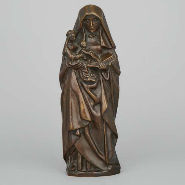 Patinated Bronze Figure of St. Anne, 19th/early 20th century