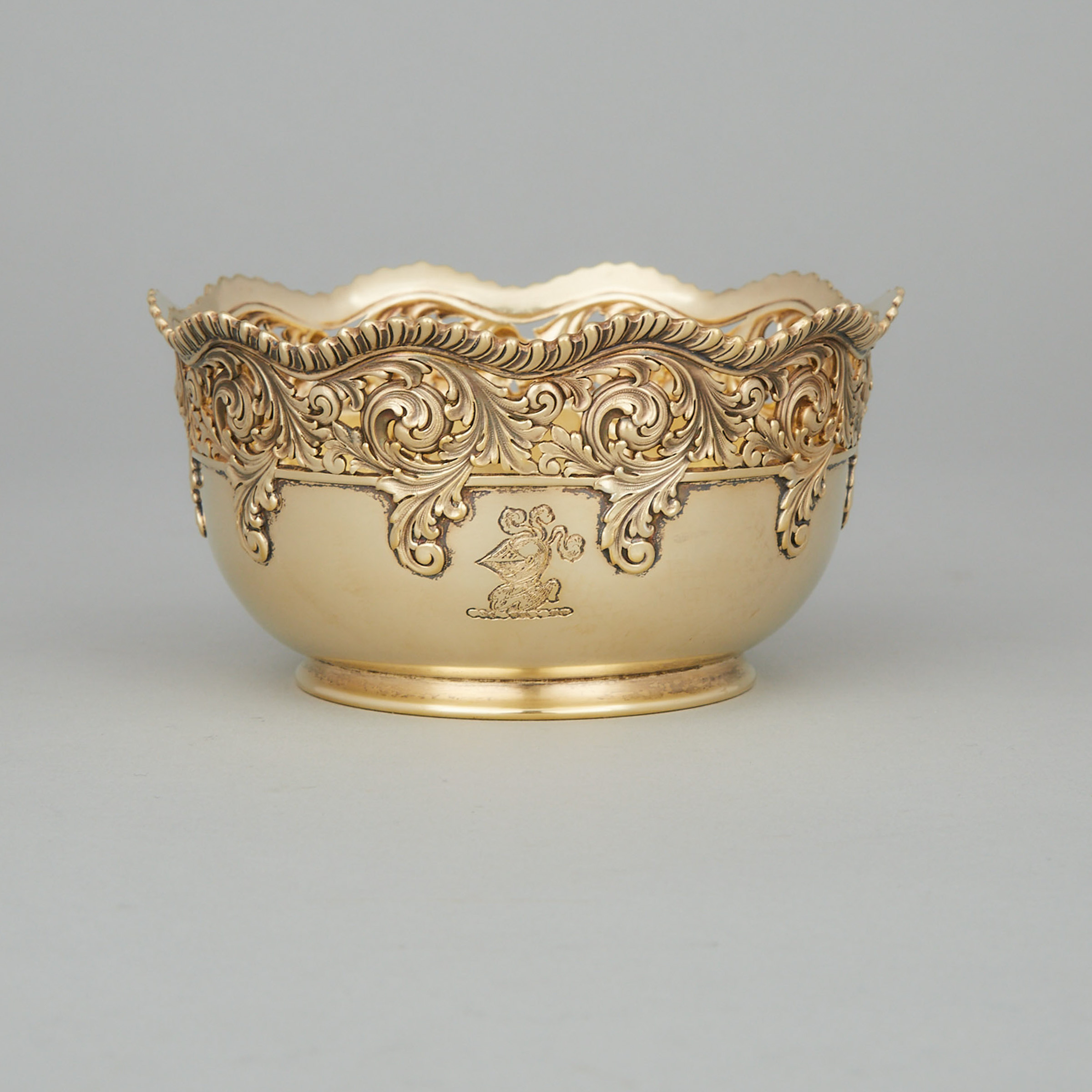 American Silver-Gilt Pierced Bowl, Tiffany & Co., New York, N.Y., late 19th century
