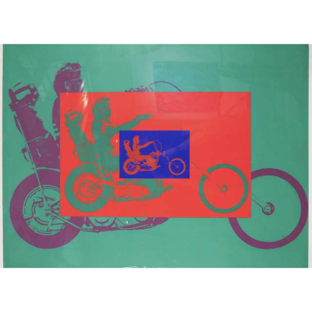 Easy Rider in Three Colours Poster