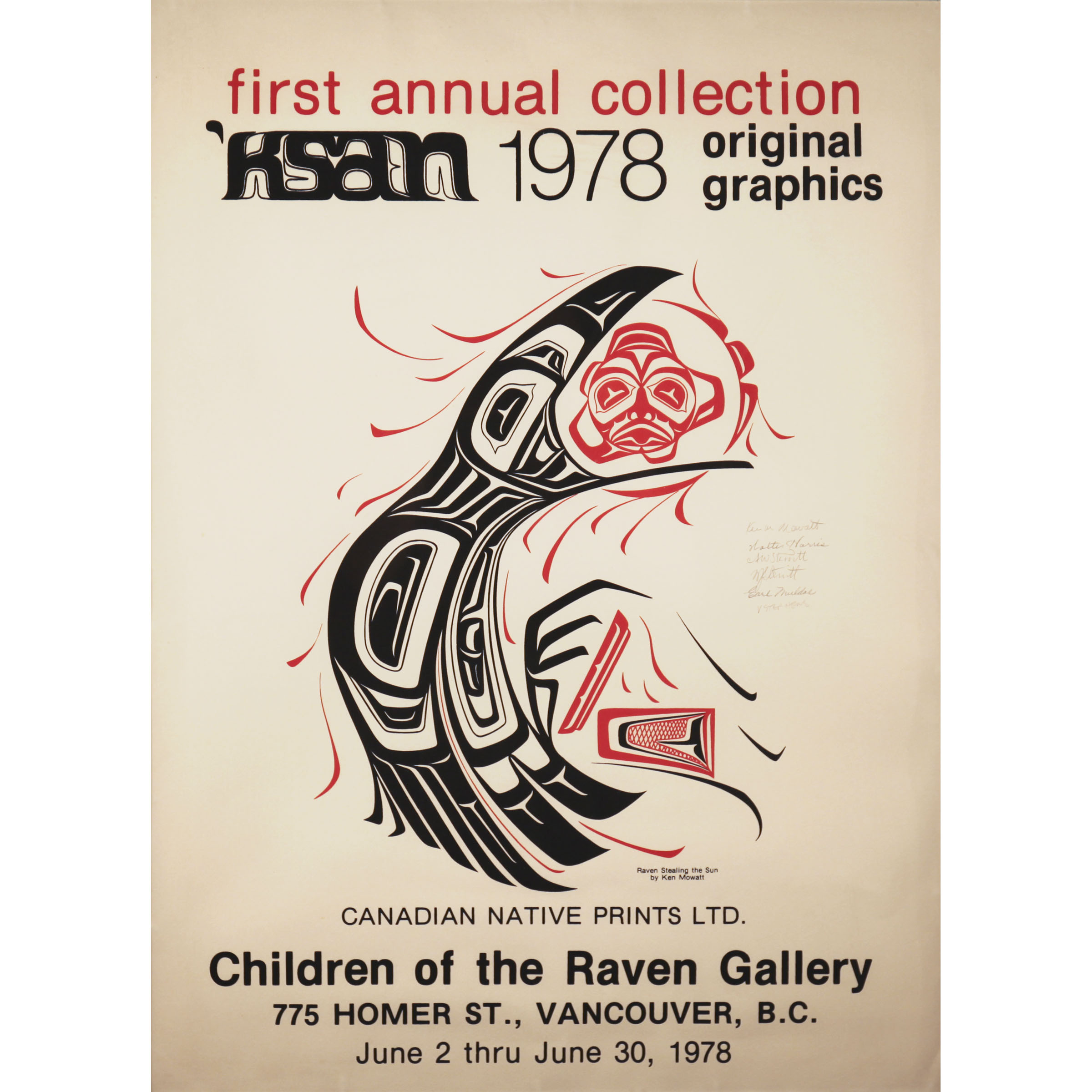 Children of the Raven Gallery Prints Collection Poster, 1978