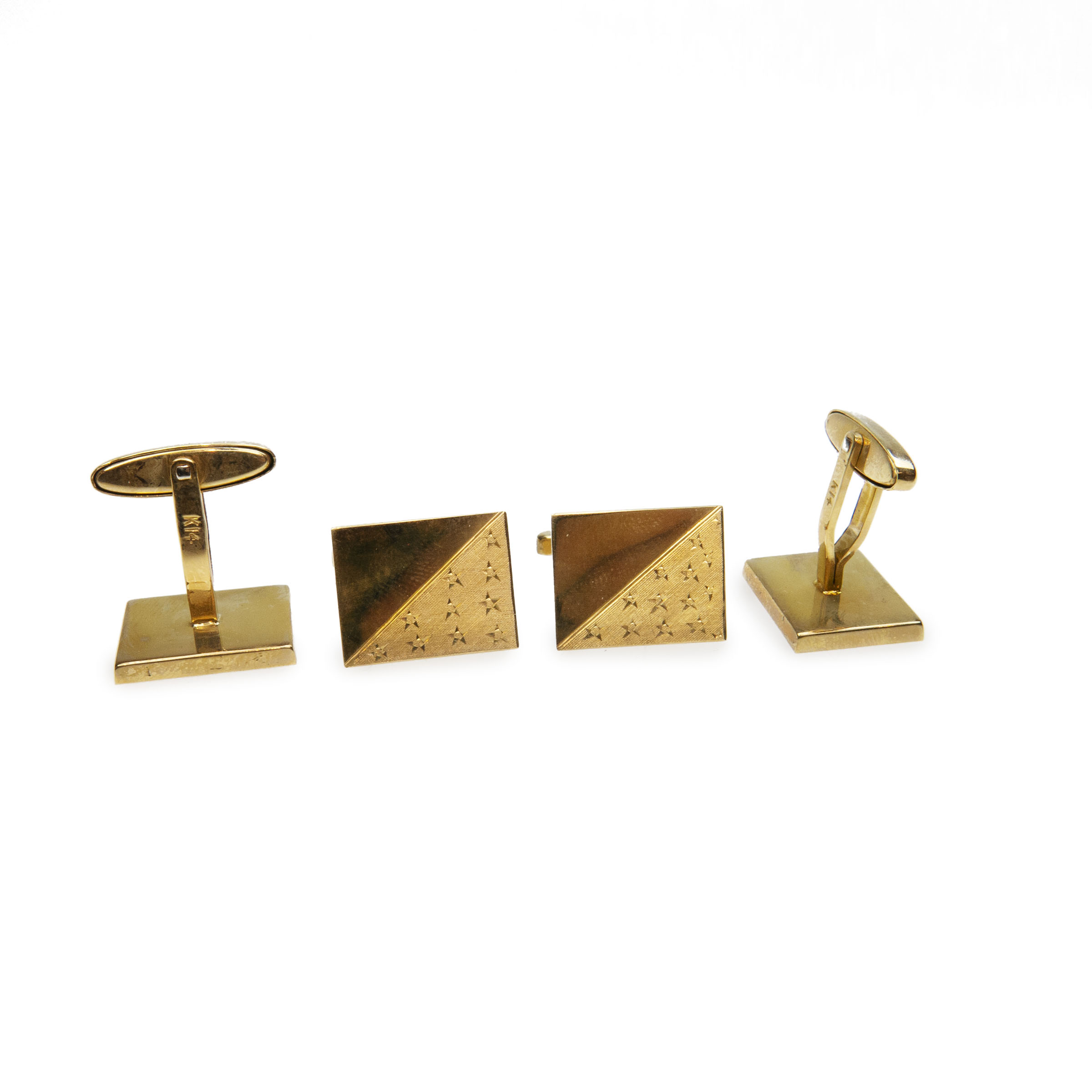 2 X Pairs Of 14K Yellow Gold Cufflinks