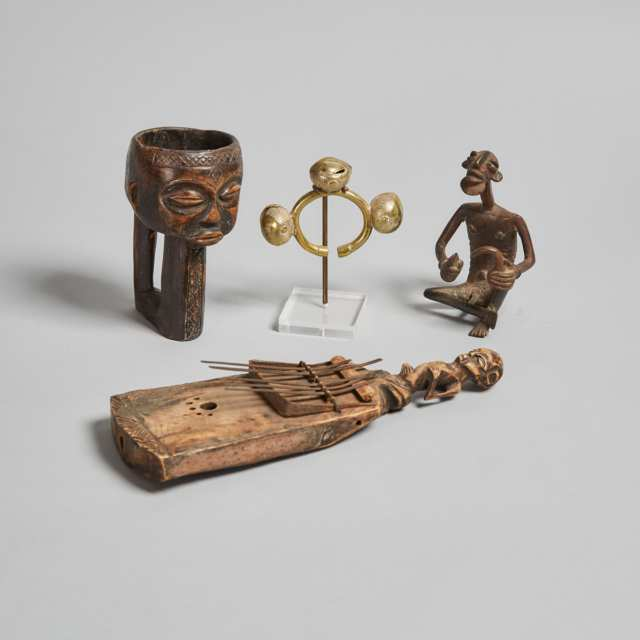 Group of Four African Items