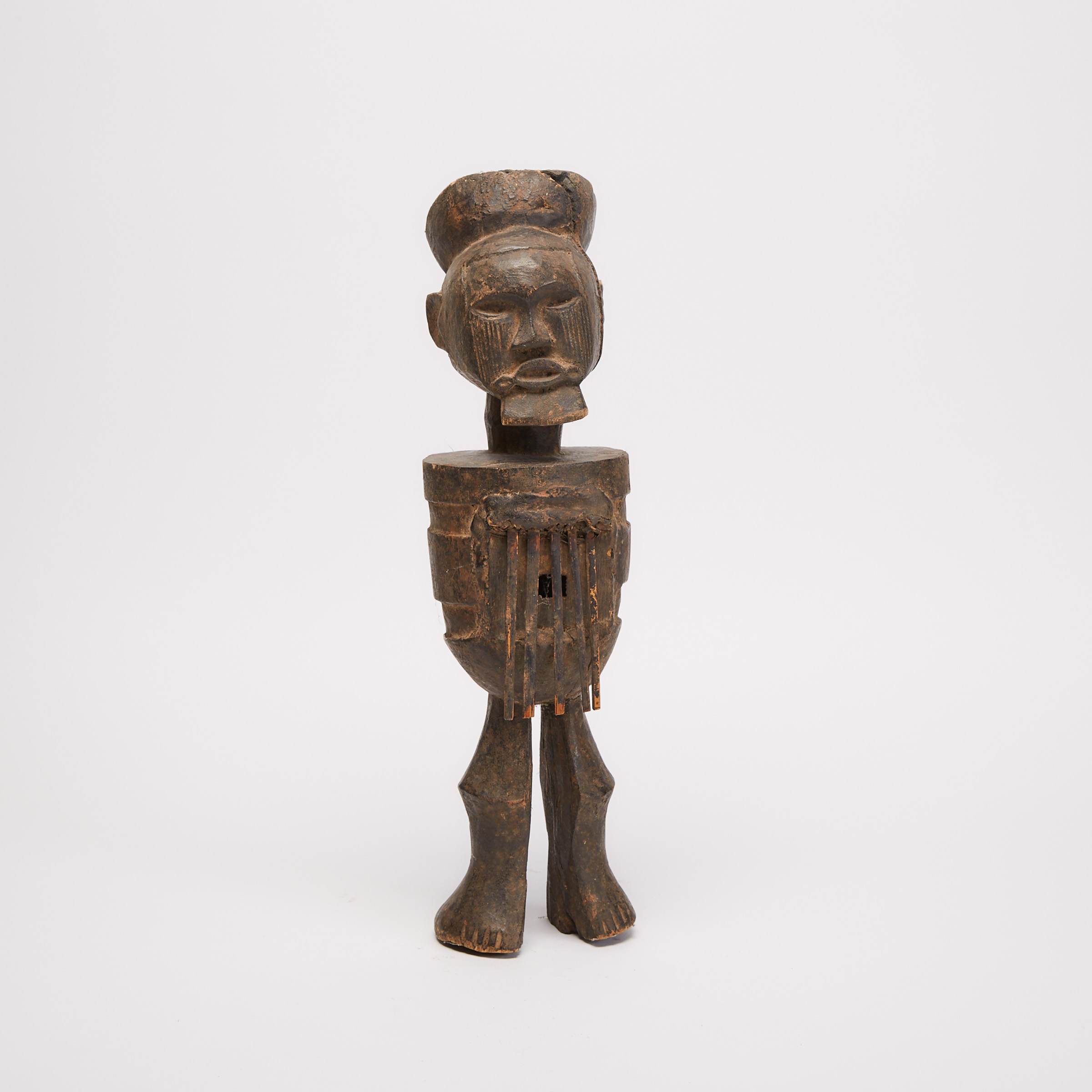 Teke Figural Mbira (finger piano), Democratic Republic of Congo, Central Africa