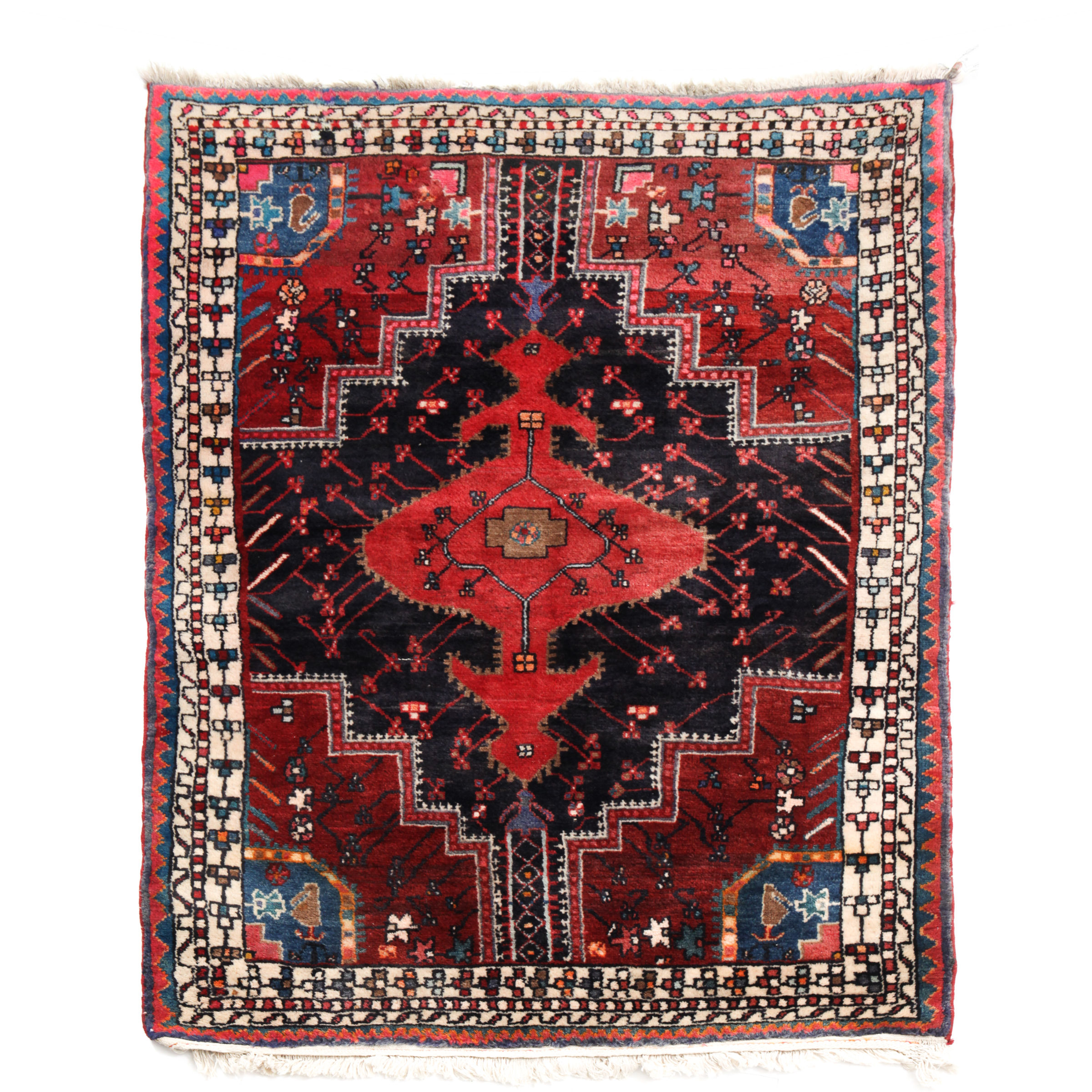 Hamadan Rug, Persian, mid 20th century
