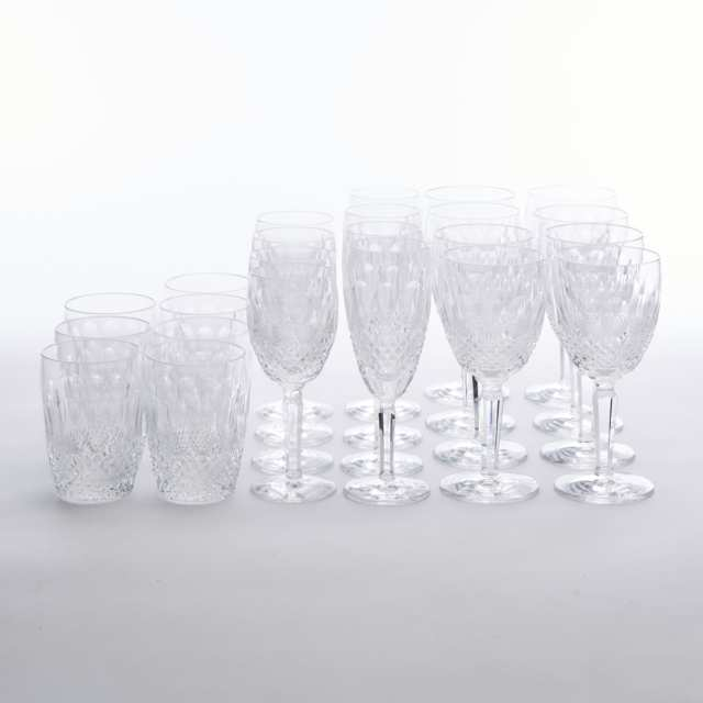 Waterford 'Colleen' Pattern Cut Glass Stemware, 20th century