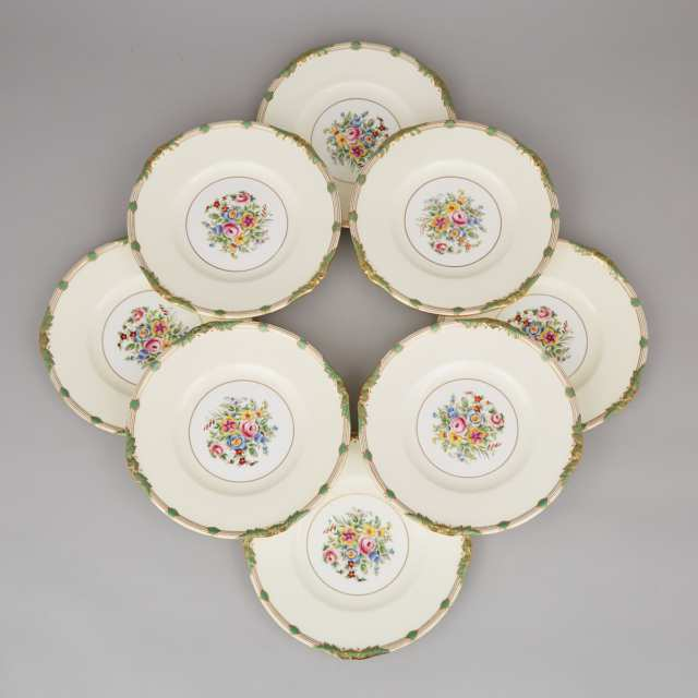 Set of Eight Minton Service Plates, 20th century