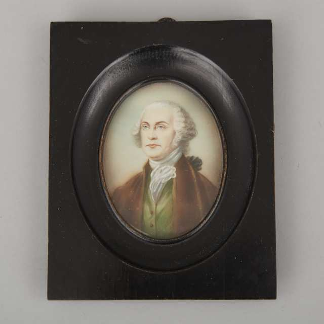 Continental School Portrait Miniature of George Washington, c.1900