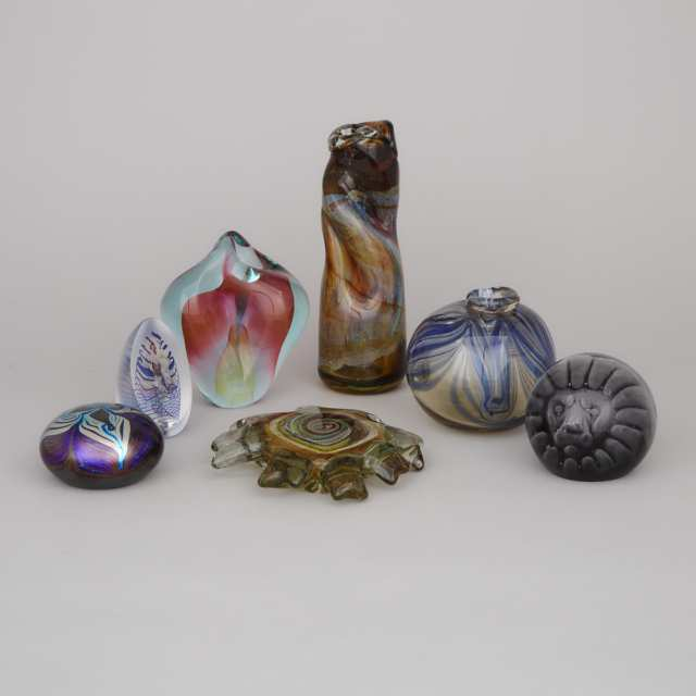 Group of Canadian, Swedish and Other Studio Glass, second half of the 20th century
