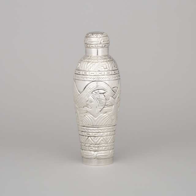 Peruvian Silver Cocktail Shaker, 20th century