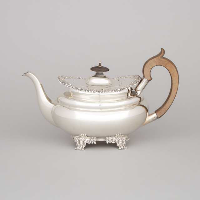 English Silver Teapot, John Henry Potter, Sheffield, 1913