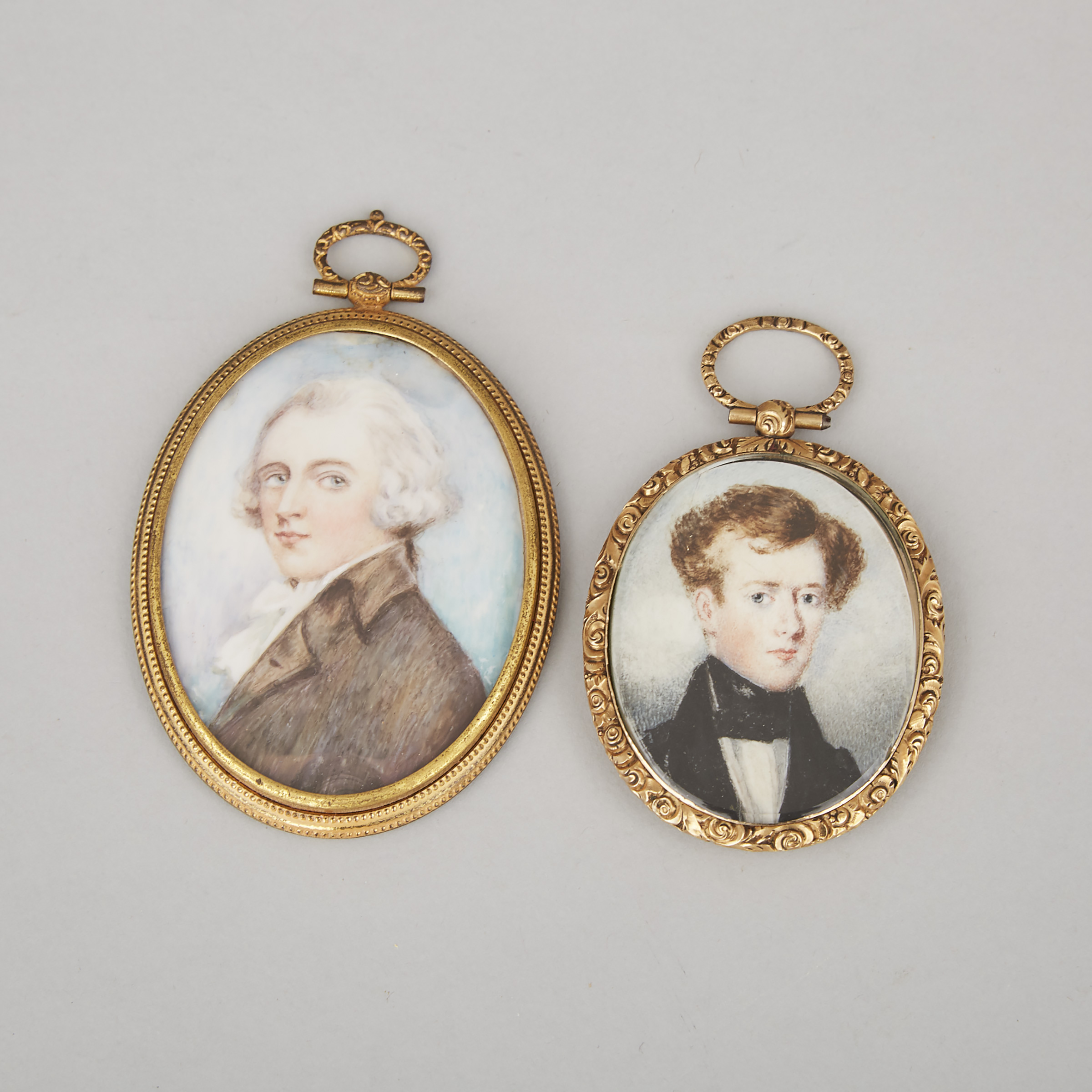 Two British School Portraits of Gentlemen, 18th/early 19th centuries