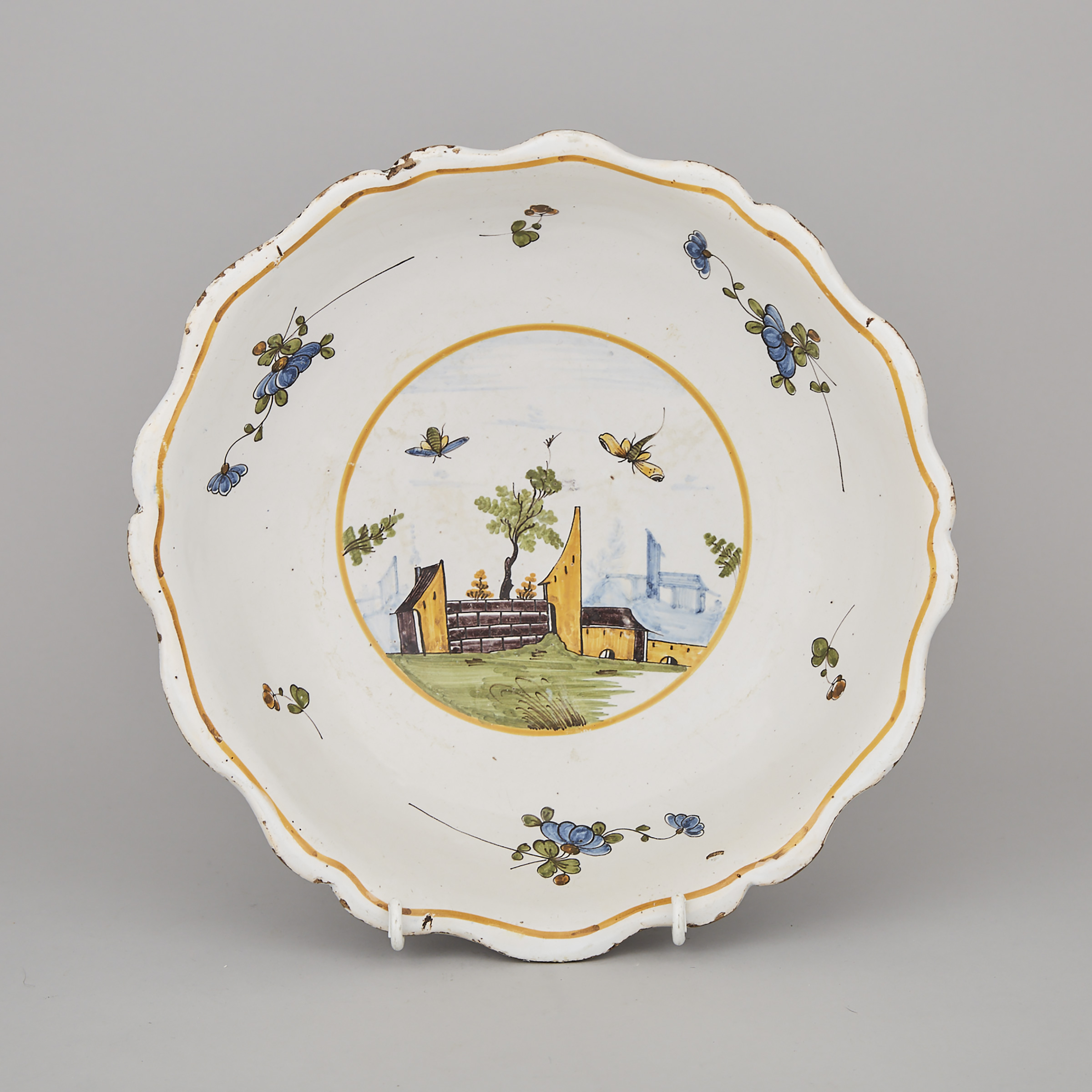 French Faience Polychrome Basin, late 18th/early 19th century