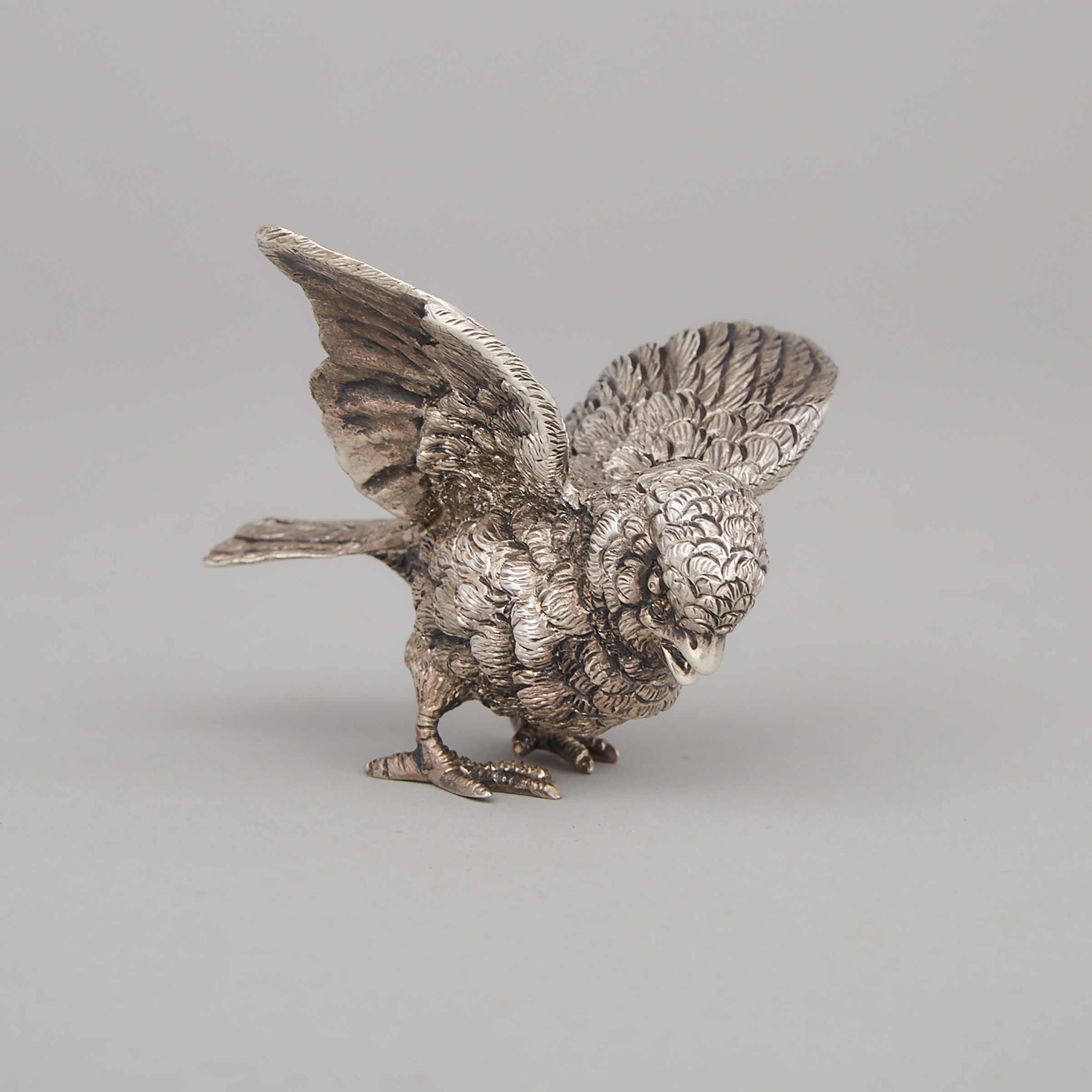 English Silver Model of a Sparrow, Francis Higgins & Sons Ltd., London, 1936