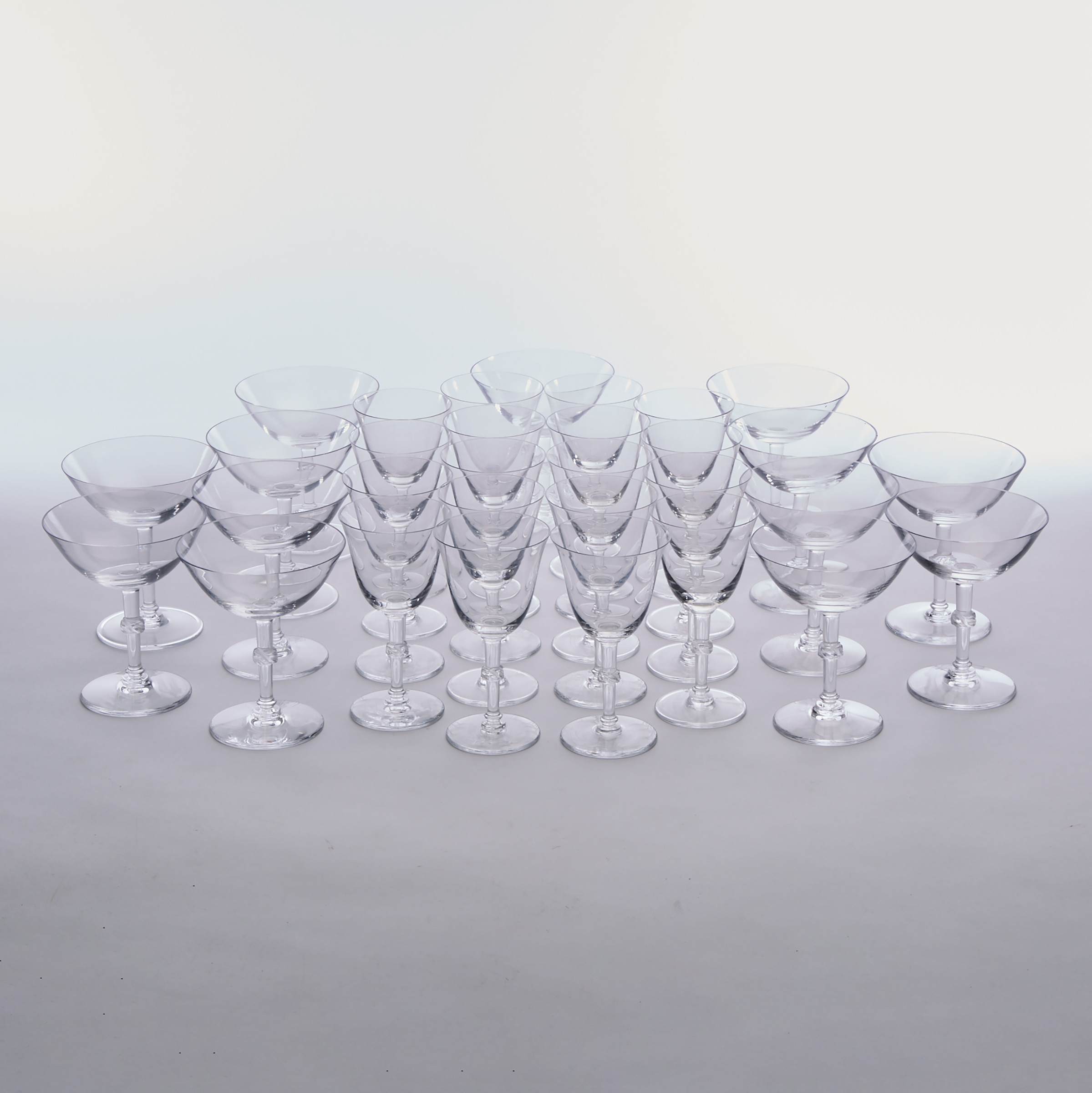 Beaugency, Lalique Glass Stemware, post-1945