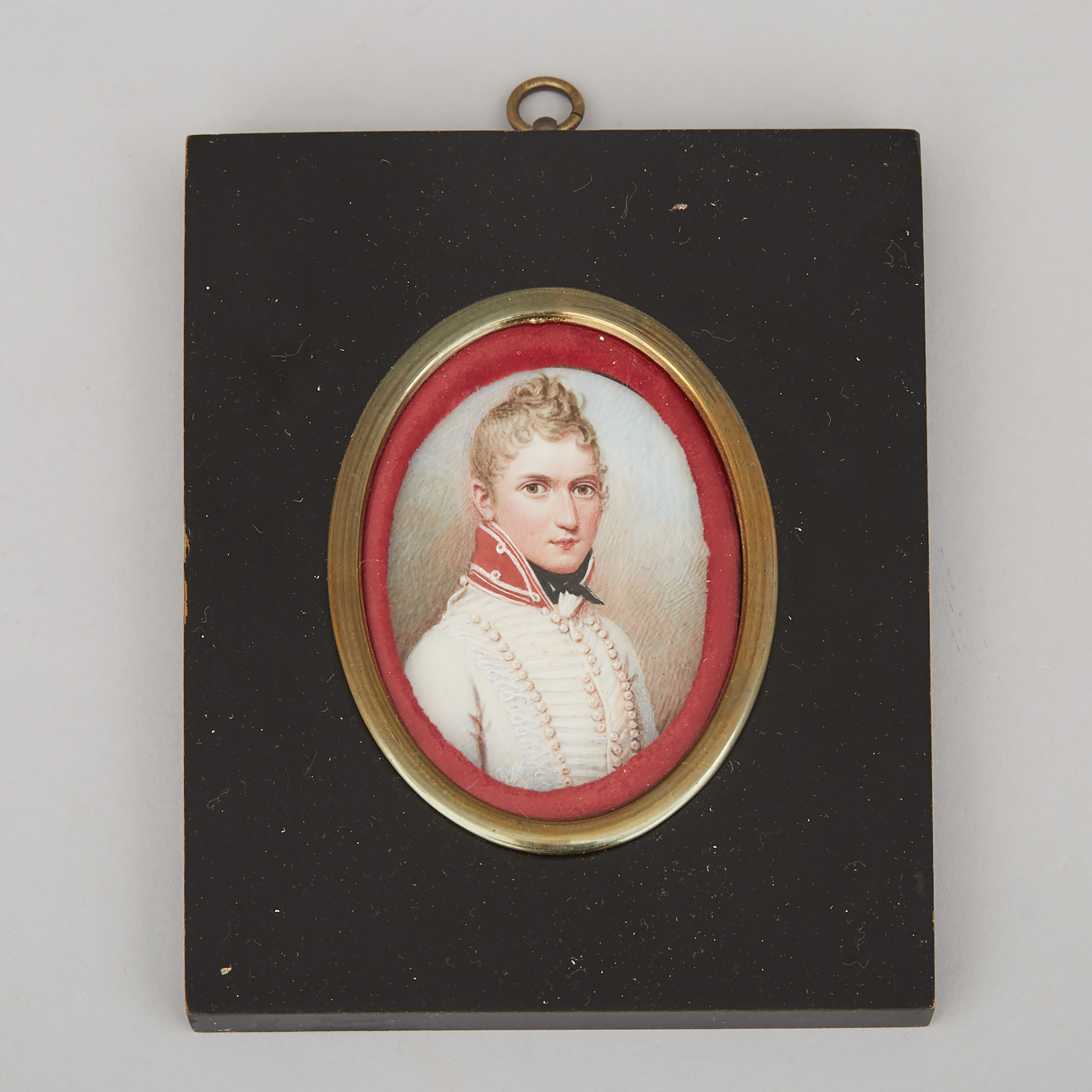 Austrian School Portrait Miniature of a Napoleonic Era Officer, early 19th century
