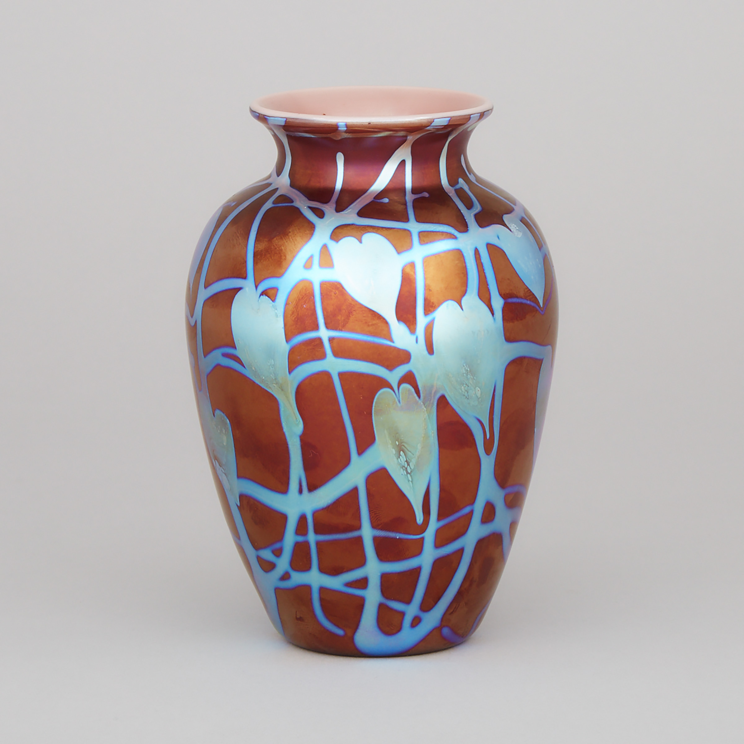 Donald Carlson (American, b.1944), Iridescent Glass Vase, late 20th century