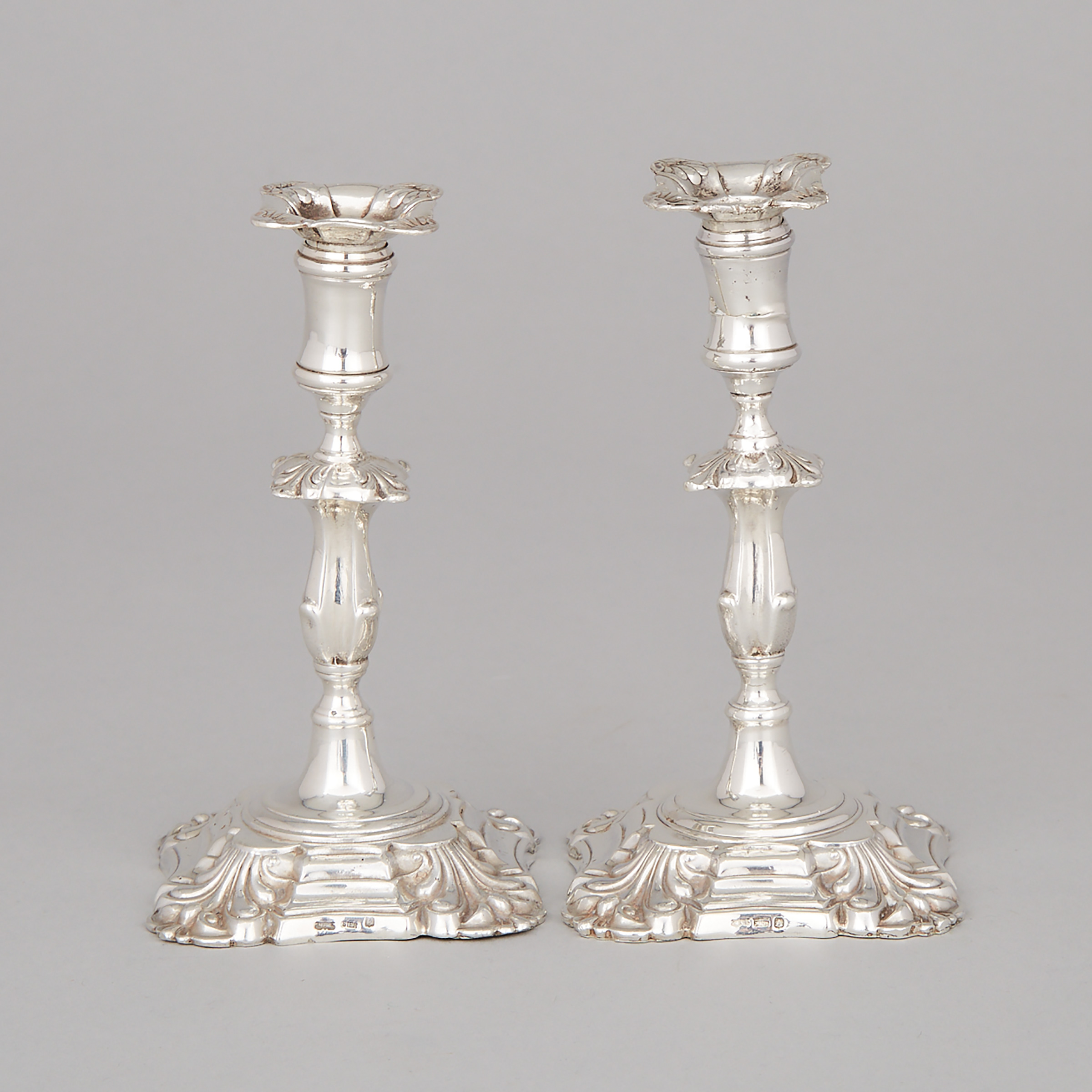 Pair of Canadian Silver Tapersticks, Michael Surman, Salt Spring Island, B.C., late 20th century
