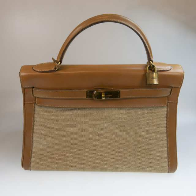 Hermes Kelly Top Handle Tan Leather Bag