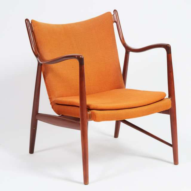 Finn Juhl (1912-1989) NV-45 Lounge Chair, Mid 20th Century