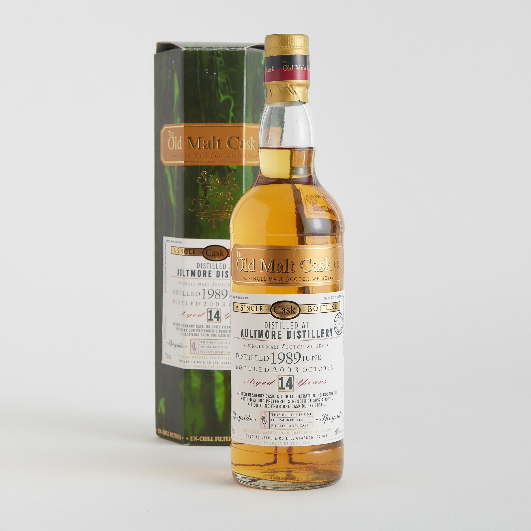 AULTMORE SINGLE MALT SCOTCH WHISKY 14 YEARS (ONE 700 ML)