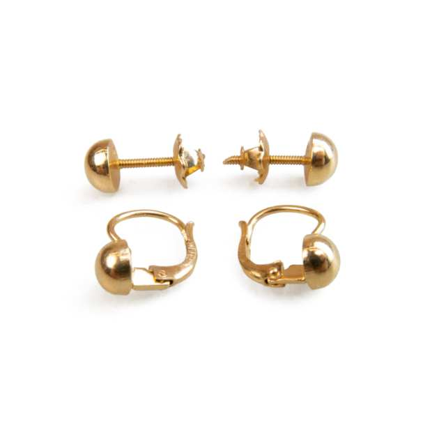 25 x Pairs Of 18k Yellow Gold Earrings