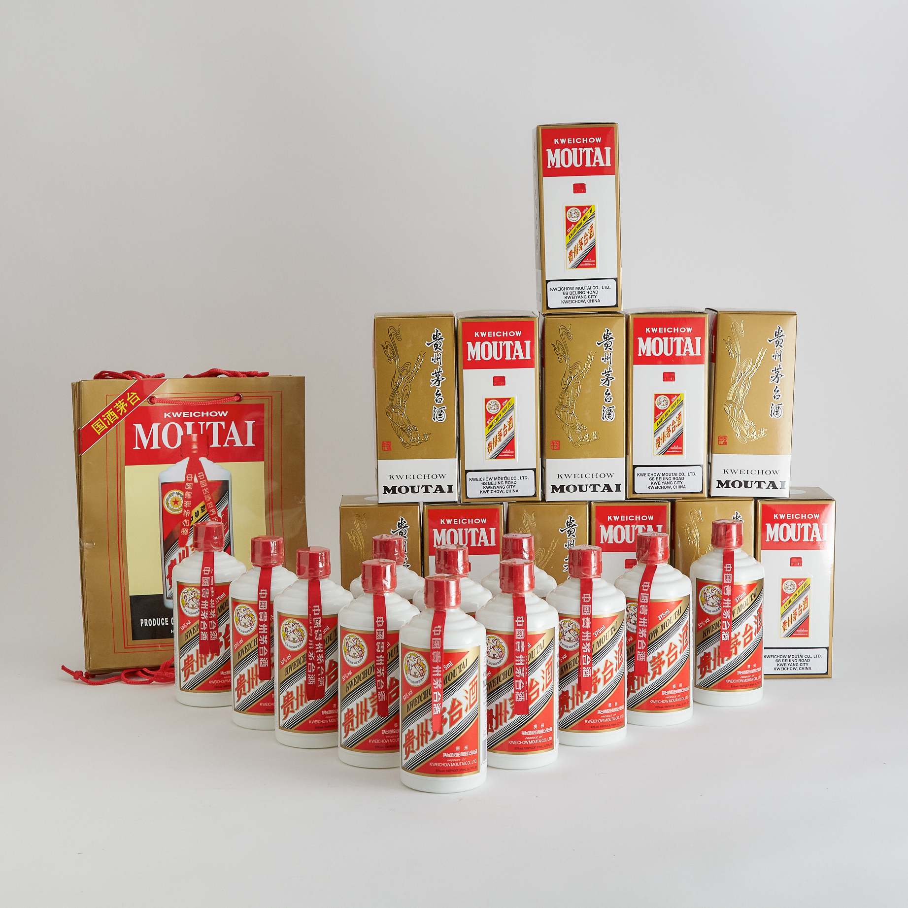 KWEICHOW MOUTAI 2010-2011 NAS (TWELVE 375 ML)