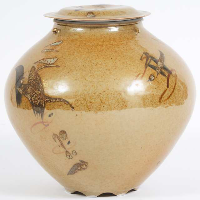 Kayo O'Young (Canadian, b.1950), Brown Glazed Covered Vase, 1994