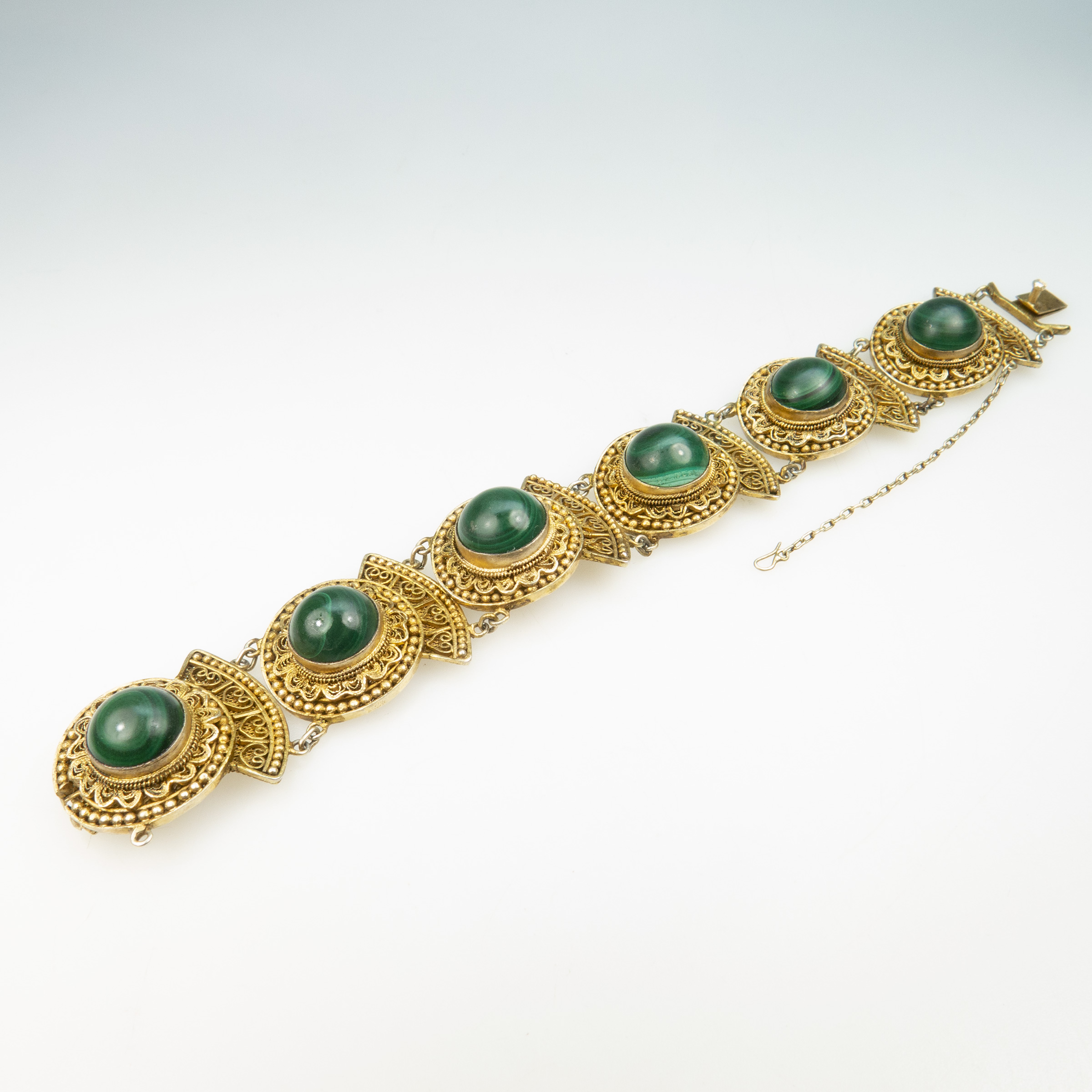 Chinese Silver Gilt Filigree Bracelet