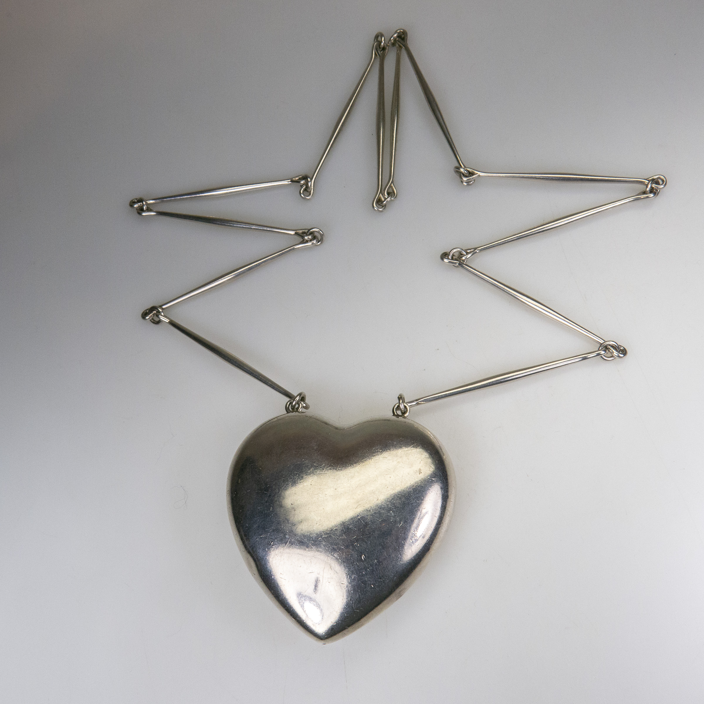 Georg Jensen Danish Sterling Silver Heart-Shaped Pendant