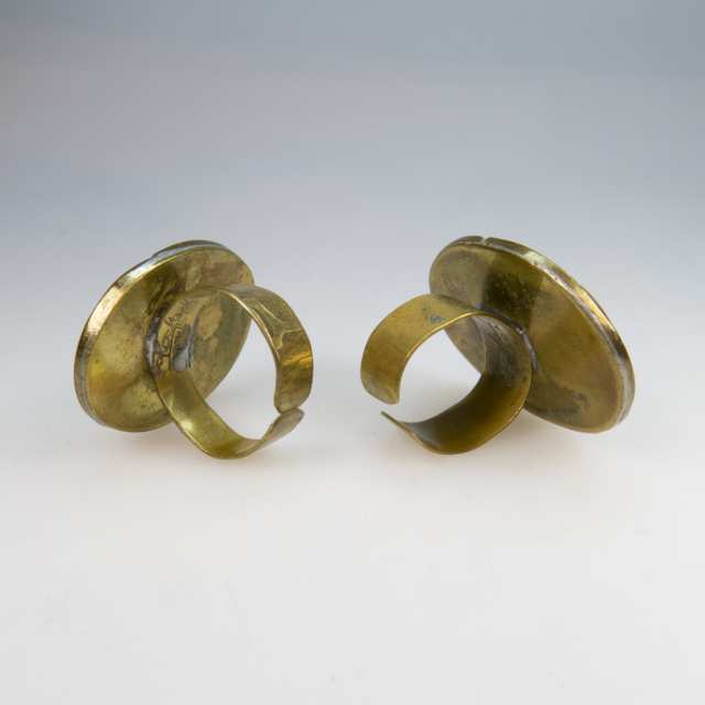 Two Rafael Alfandary Brass Rings