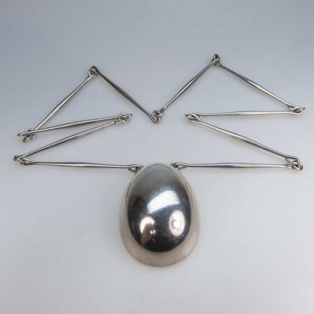 Georg Jensen Danish Sterling Silver Egg-Shaped Pendant