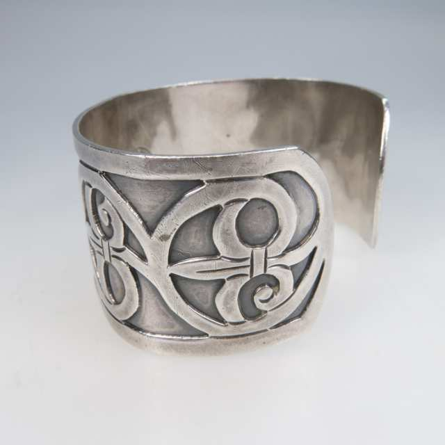 Bernice Goodspeed Mexican Sterling Silver Open Cuff Bangle