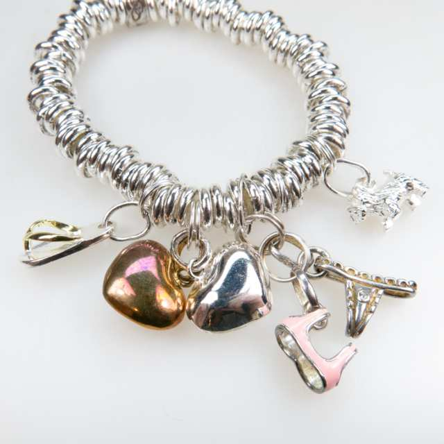 Links Of London Silver Tone Metal Necklace And Two Bracelets