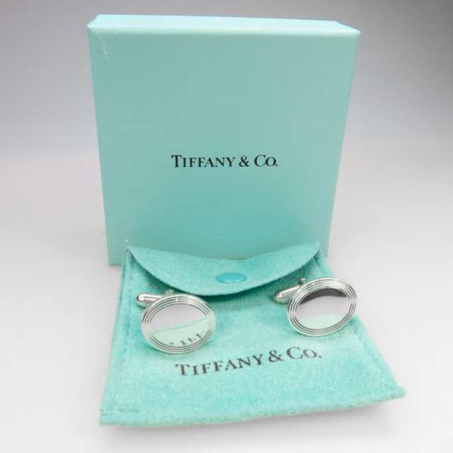 Pair Of Tiffany & Co. Sterling Silver Cufflinks