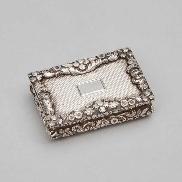 William IV Silver Vinaigrette, Nathaniel Mills, Birmingham, 1836