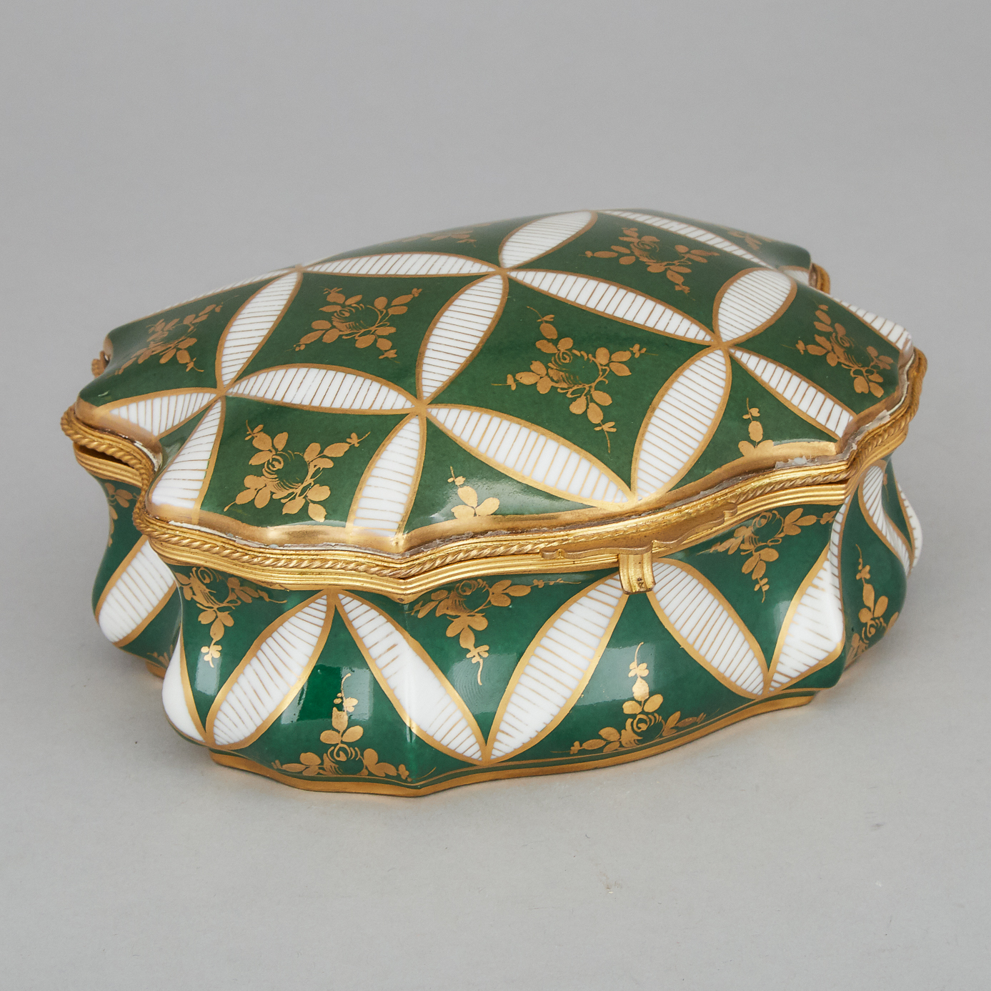 French Porcelain Trinket Box, 20th century