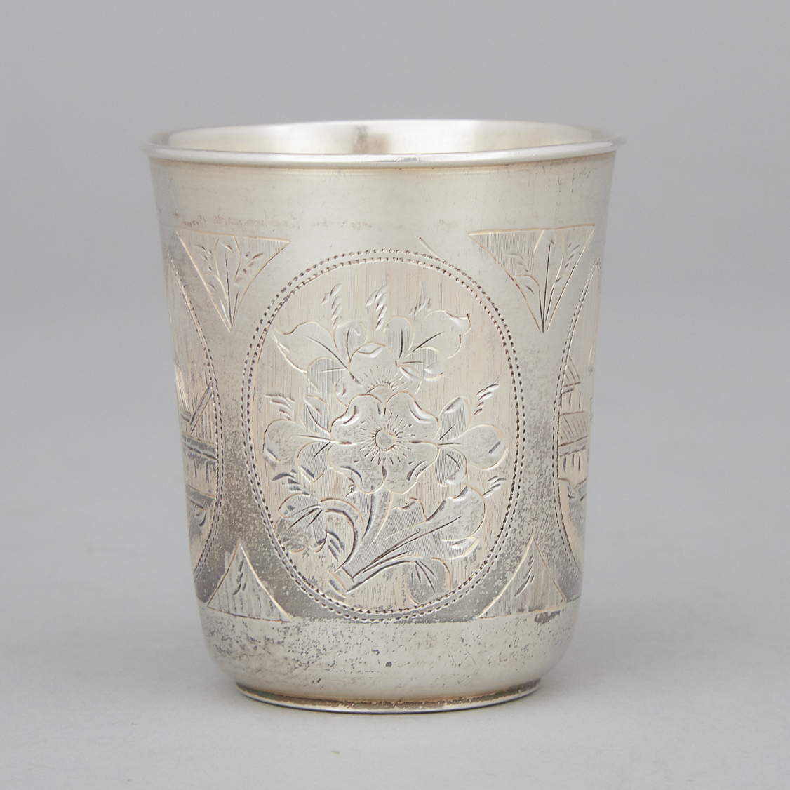 Russian Engraved Silver Beaker, Moscow, 1885