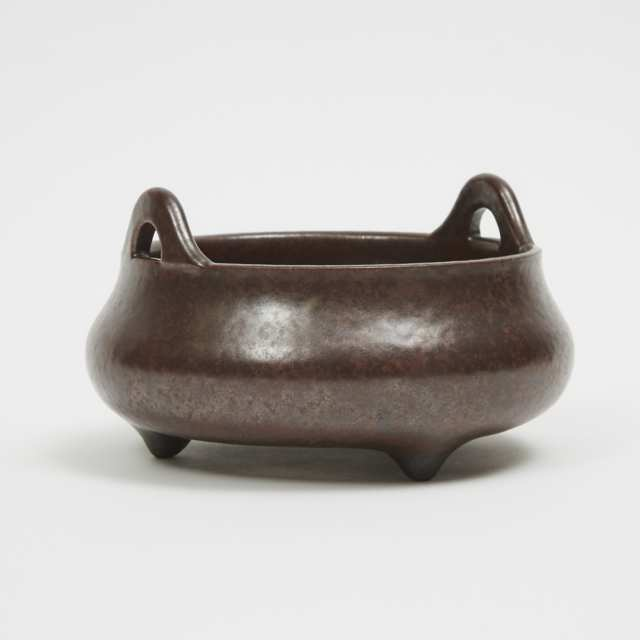 An Imitation-Bronze Porcelain Censer, Yongzheng Mark