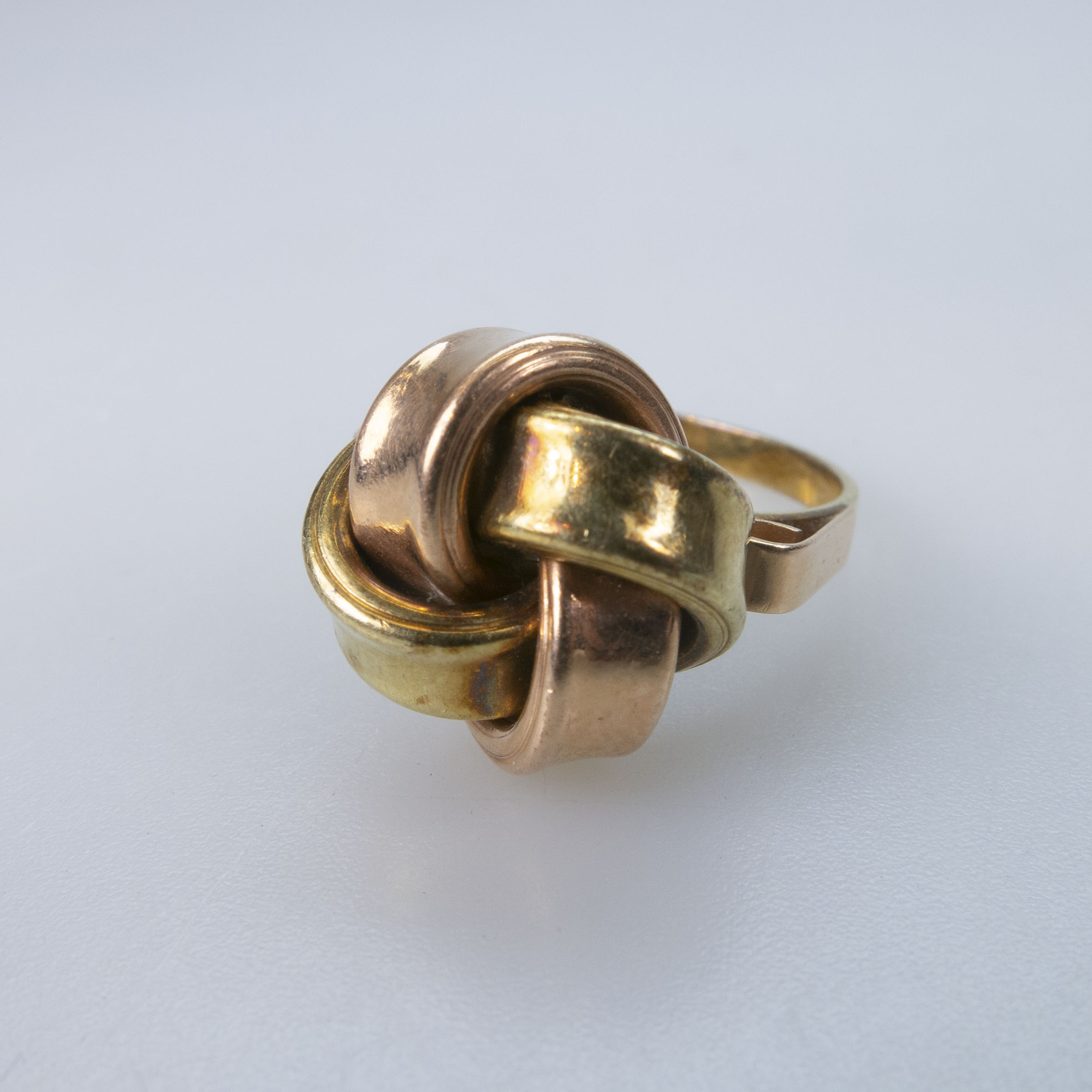 Hungarian 14k Yellow And Rose Gold Knot Ring