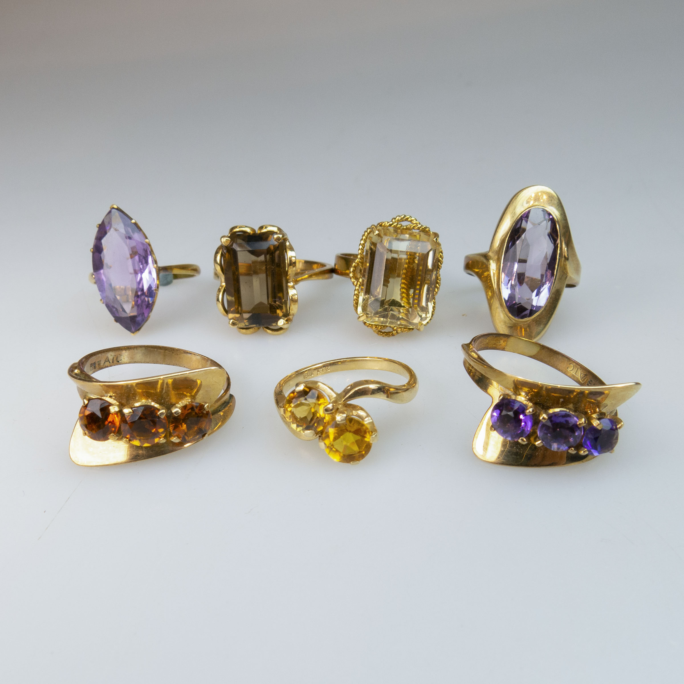4 x 14k And 3 x 18k Yellow Gold Rings