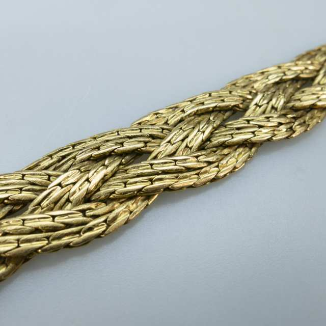 Italian 18k Yellow Gold Braided Bracelet
