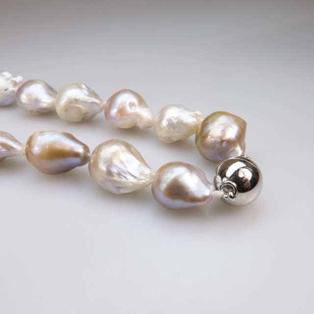 Single Strand Of Baroque Freshwater Pearls