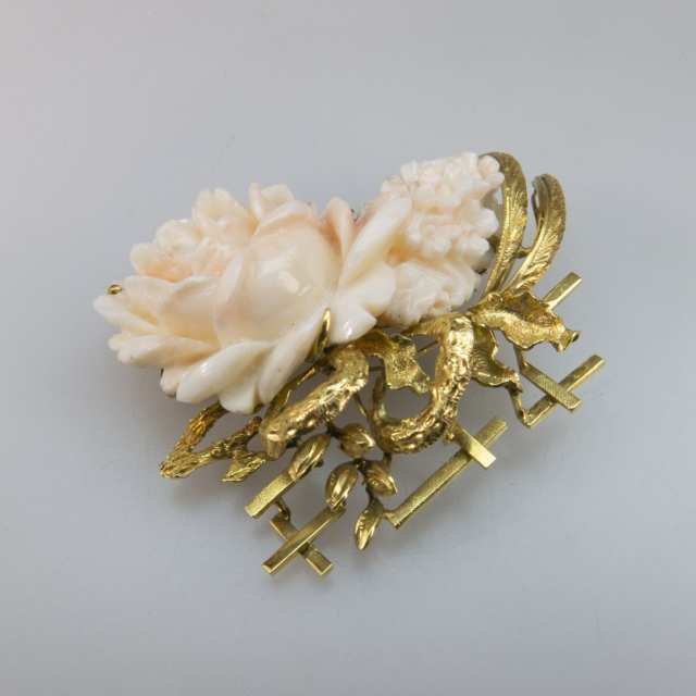 Five Gold Brooches