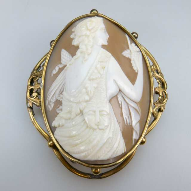 Large Carved Shell Cameo