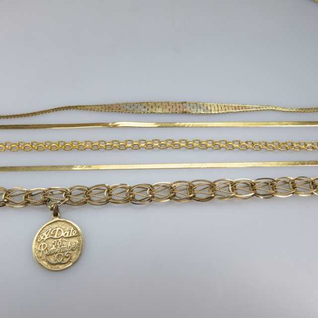 1 x 14k & 2 x 10k Yellow Gold Chains