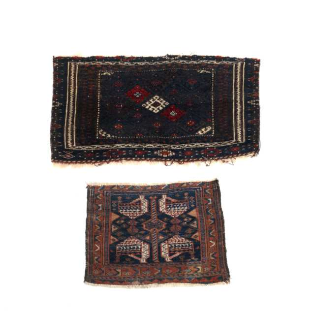 Jaff Kurd Bag Face, Persian together with a North West Persian Bag Face, both early 20th century