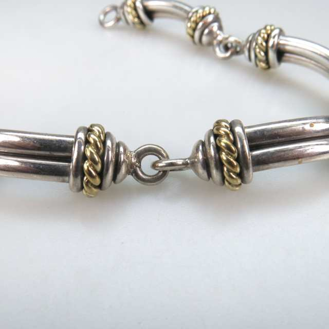 David Wysor Sterling Silver And 18k Yellow Gold Bracelet