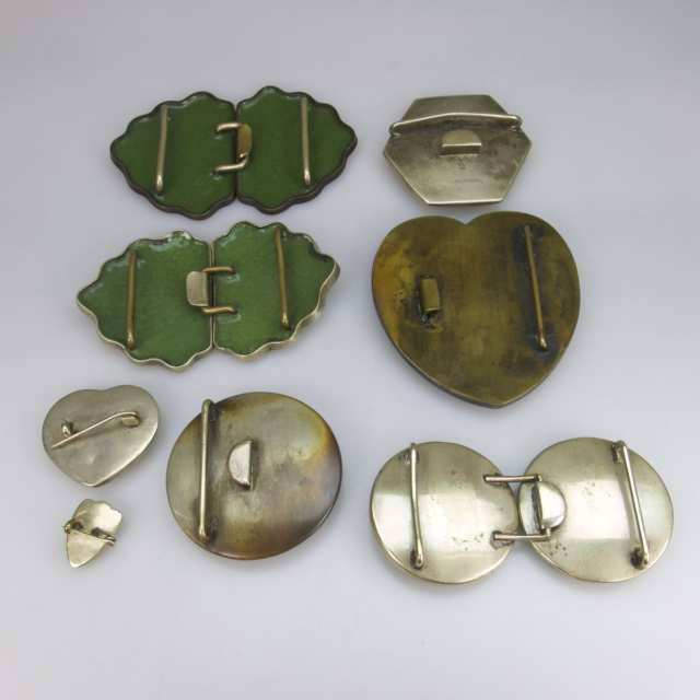 Small Quantity Of Satsuma And Cloisonné Buckles