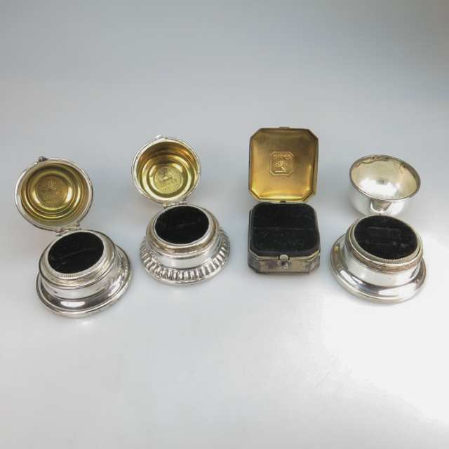 4 Birks Sterling Silver Ring Boxes
